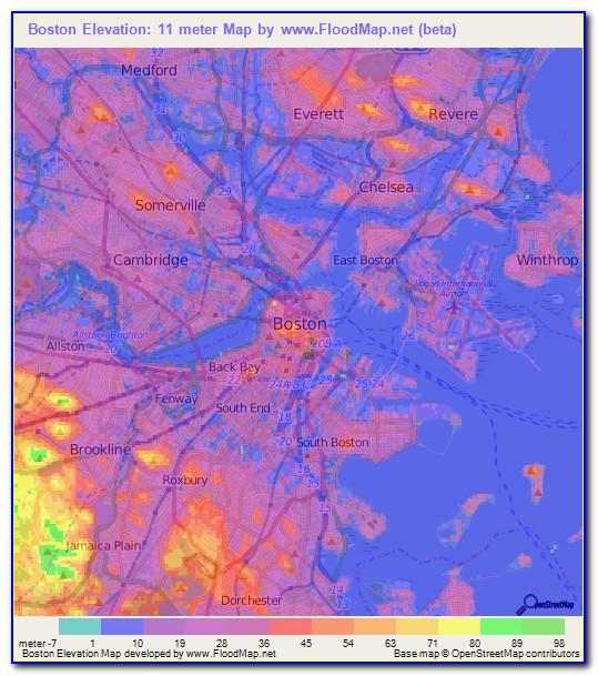 Boston Topo Map