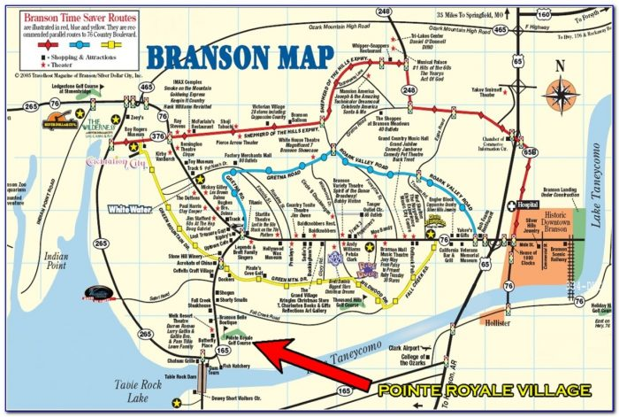 Branson Mo Attractions Map