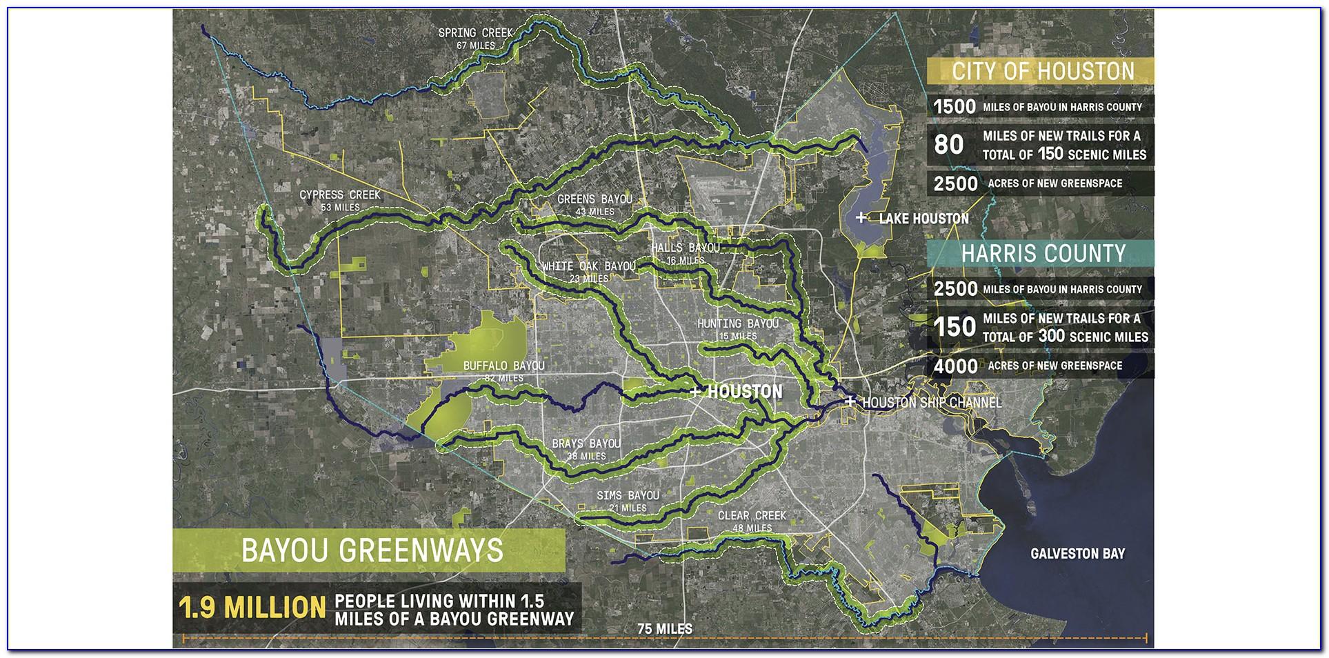 Buffalo Bayou Flood Inundation Map
