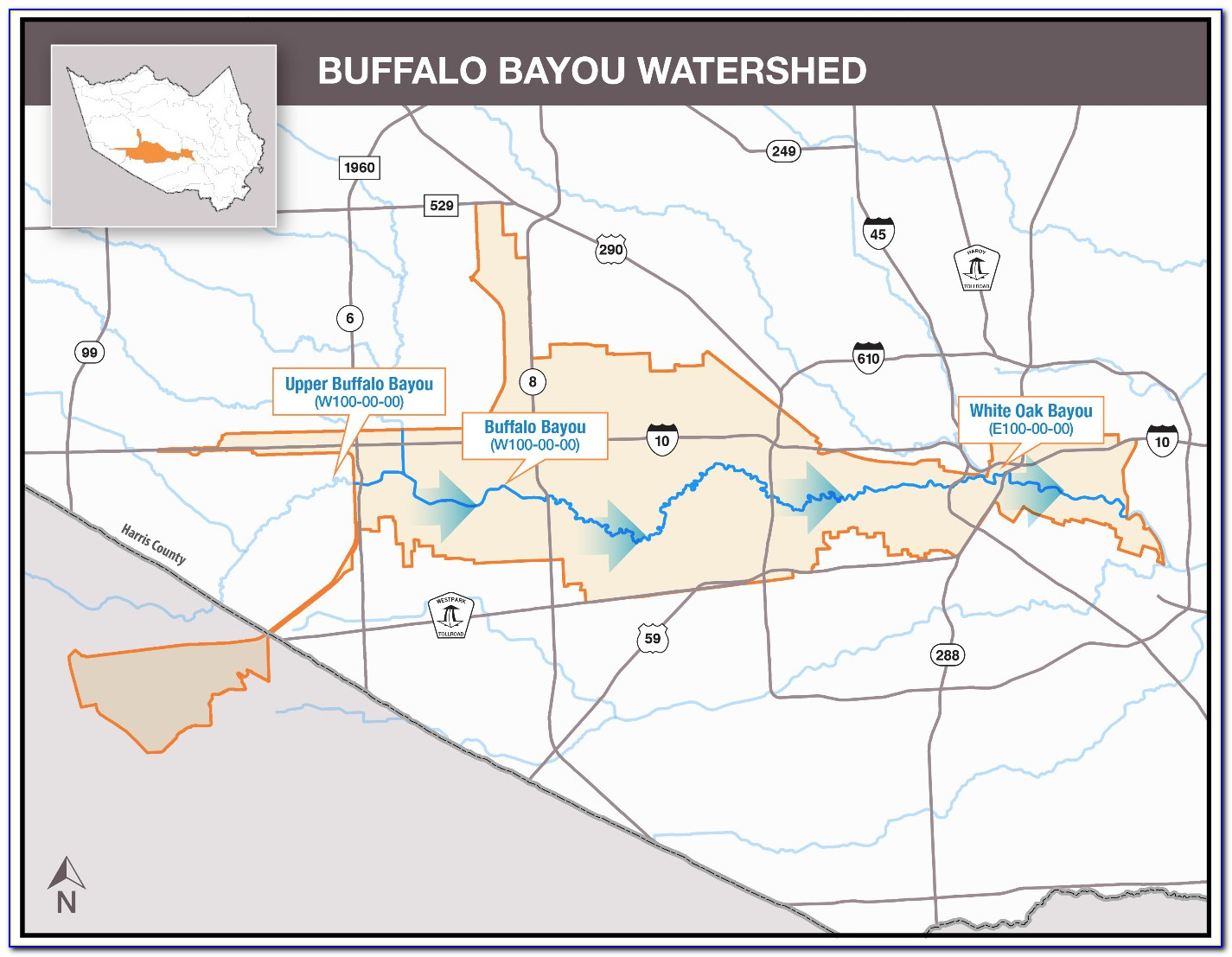Buffalo Bayou Flooding Map Harvey