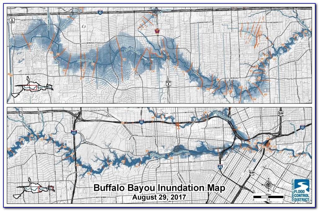 Buffalo Bayou Flooding Map