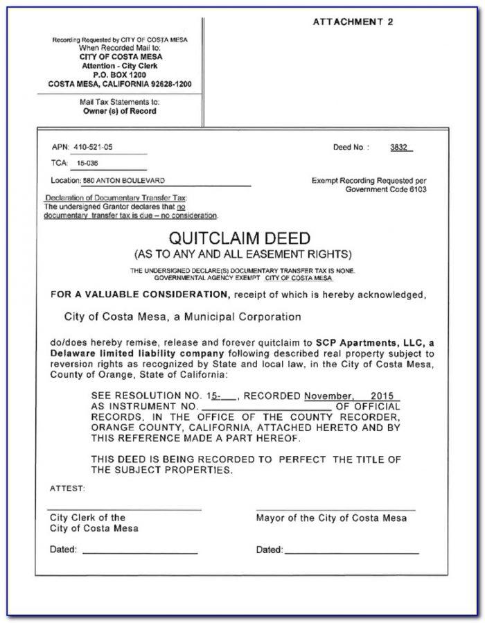 California Deed Form