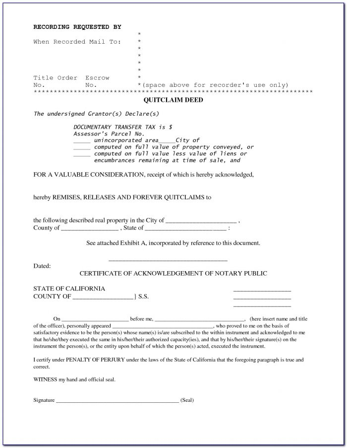 California Grant Deed Form 2018