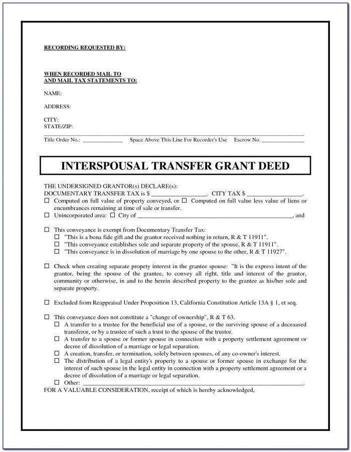 California Grant Deed Form