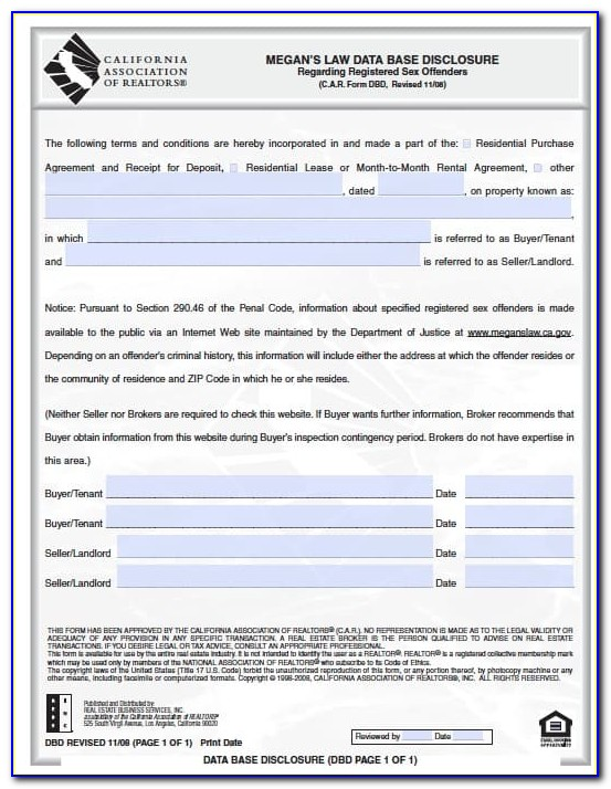 California Residential Lease Agreement With Option To Purchase Form