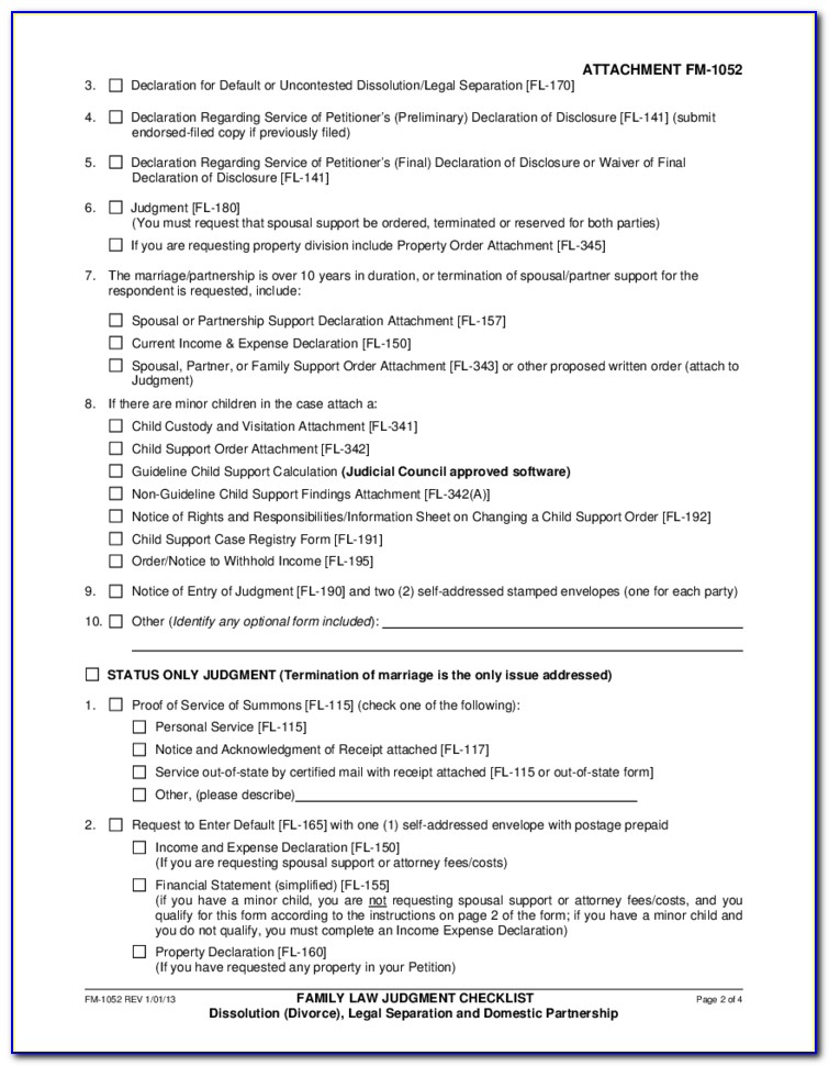 California Uncontested Divorce Forms
