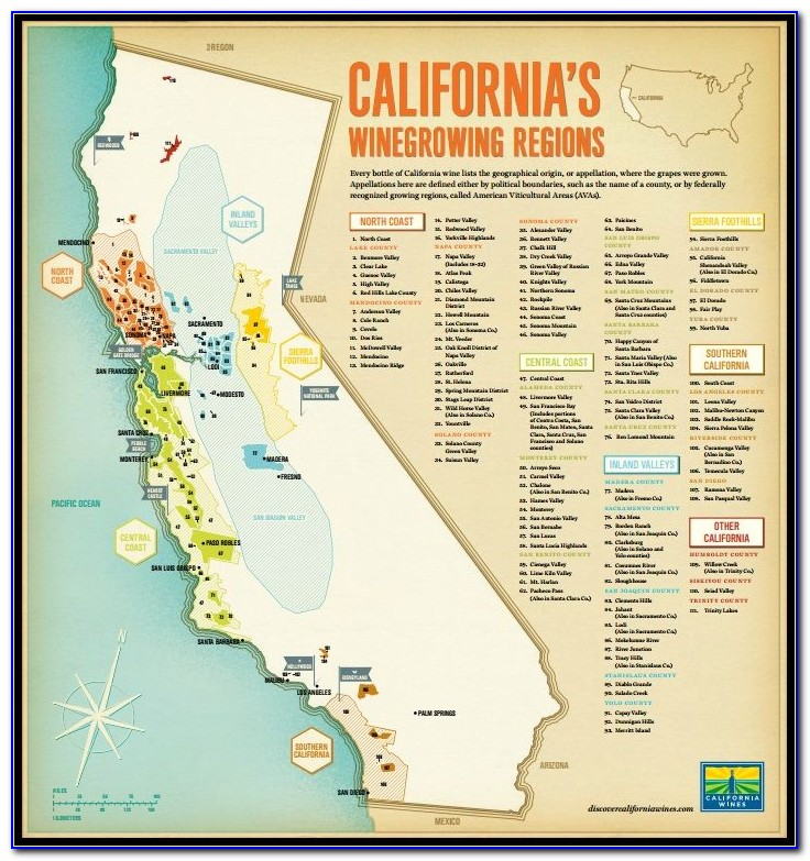 California Wineries Map Sonoma