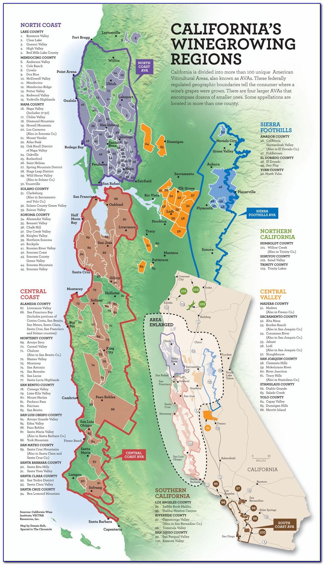 California Winery Map
