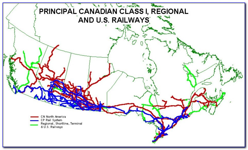 Canadian National Railway Map