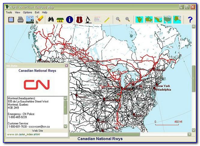 Canadian Rail Map