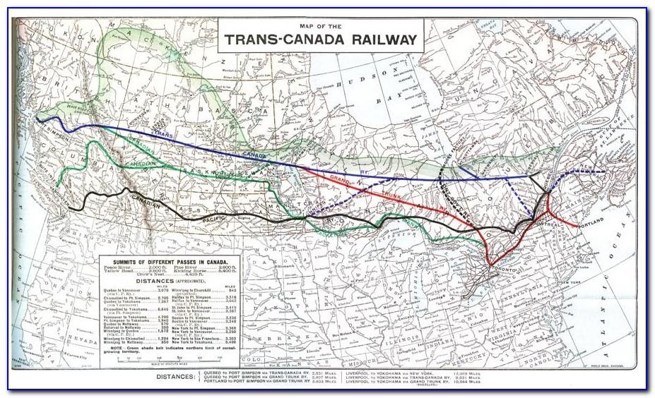Canadian Railway Map 1900