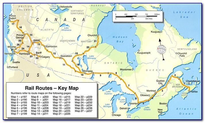 Canadian Train Map