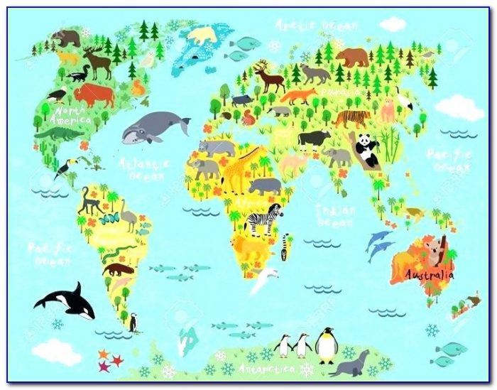Canvas Push Pin World Map