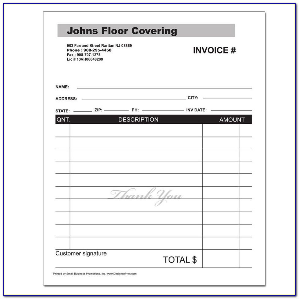 General Invoice Forms Carbonless Printing Carbonless Invoice Forms