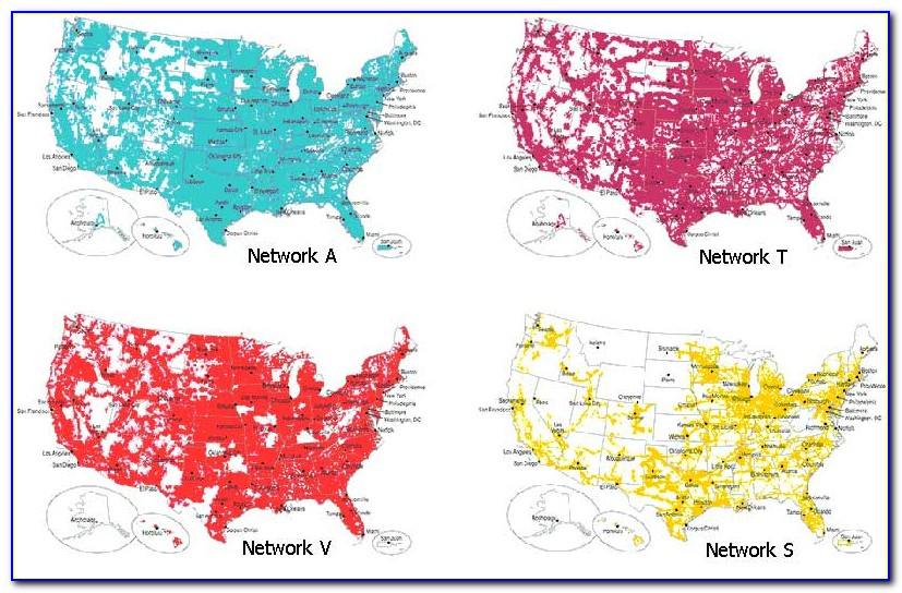 Cell Phone Coverage Maps At&t Verizon Sprint T Mobile