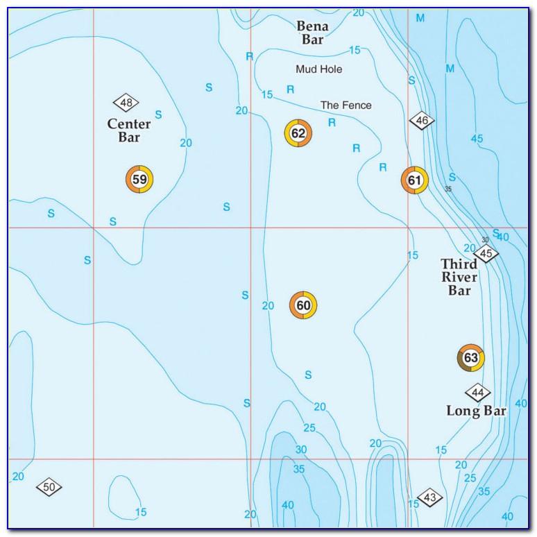Charleston Hot Spot Fishing Map