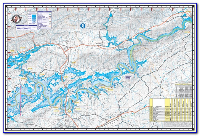 Cherokee Lake Map Tn