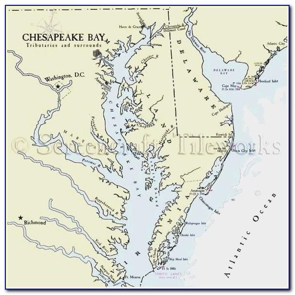 Chesapeake Bay Fishing Maps Beautiful Chesapeake Bay On Us Map