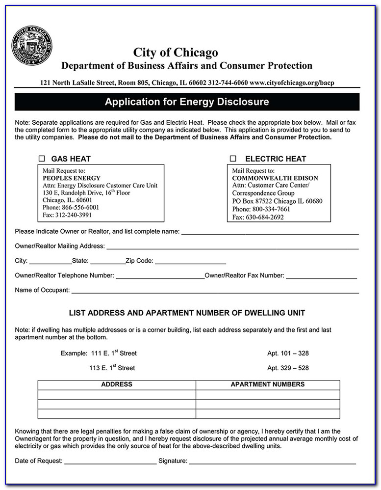 Chicago Apartment Lease Extension Form