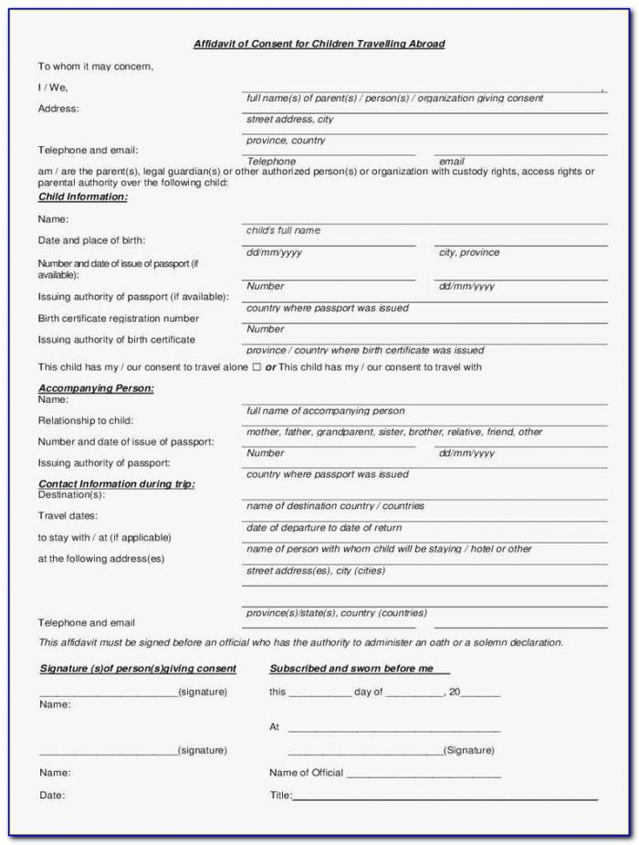 Free Child Domestic Travel Consent Form Template Lovely Sample Consent Letter For Child Travelling Abroad Uk