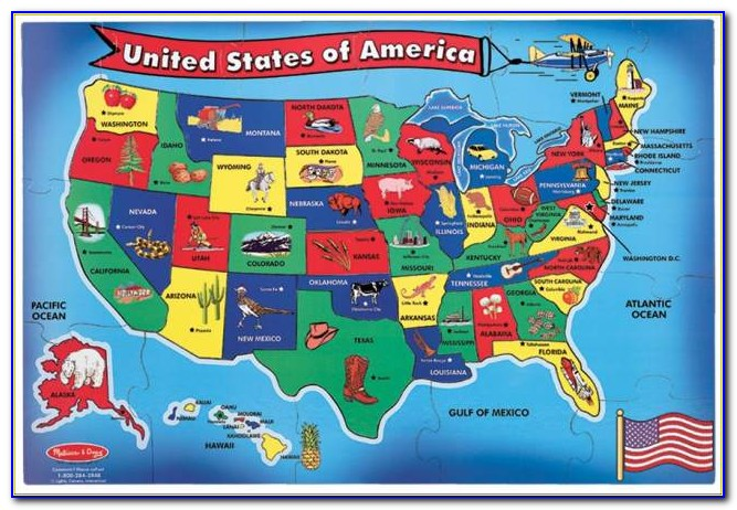 Children's Wall Map Of The United States