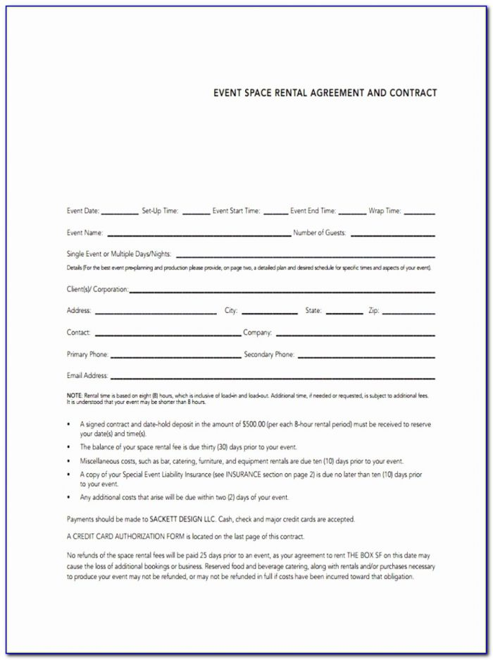 8 Event Agreement Forms Free Sample Example Format Download Simple Event Space Rental Agreement Template Unique Doc Xls Letter Best Templates Ypouu
