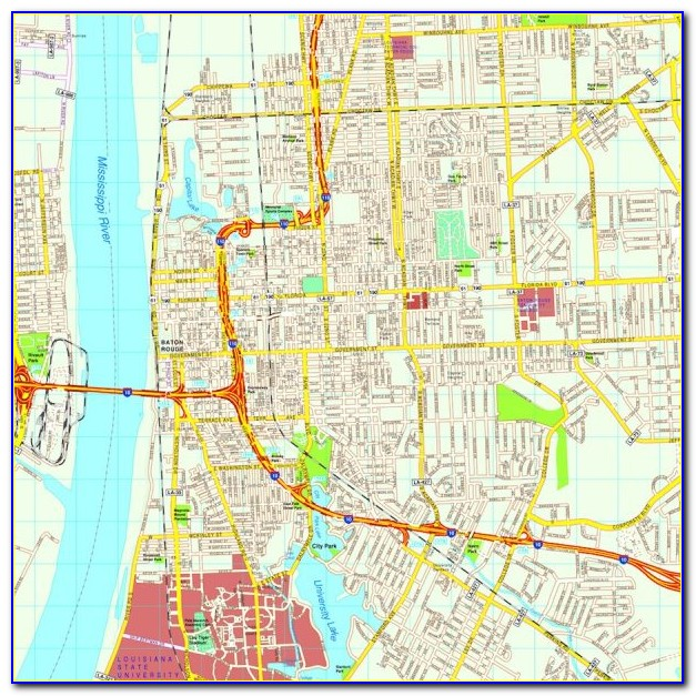 City Map Of Baton Rouge La