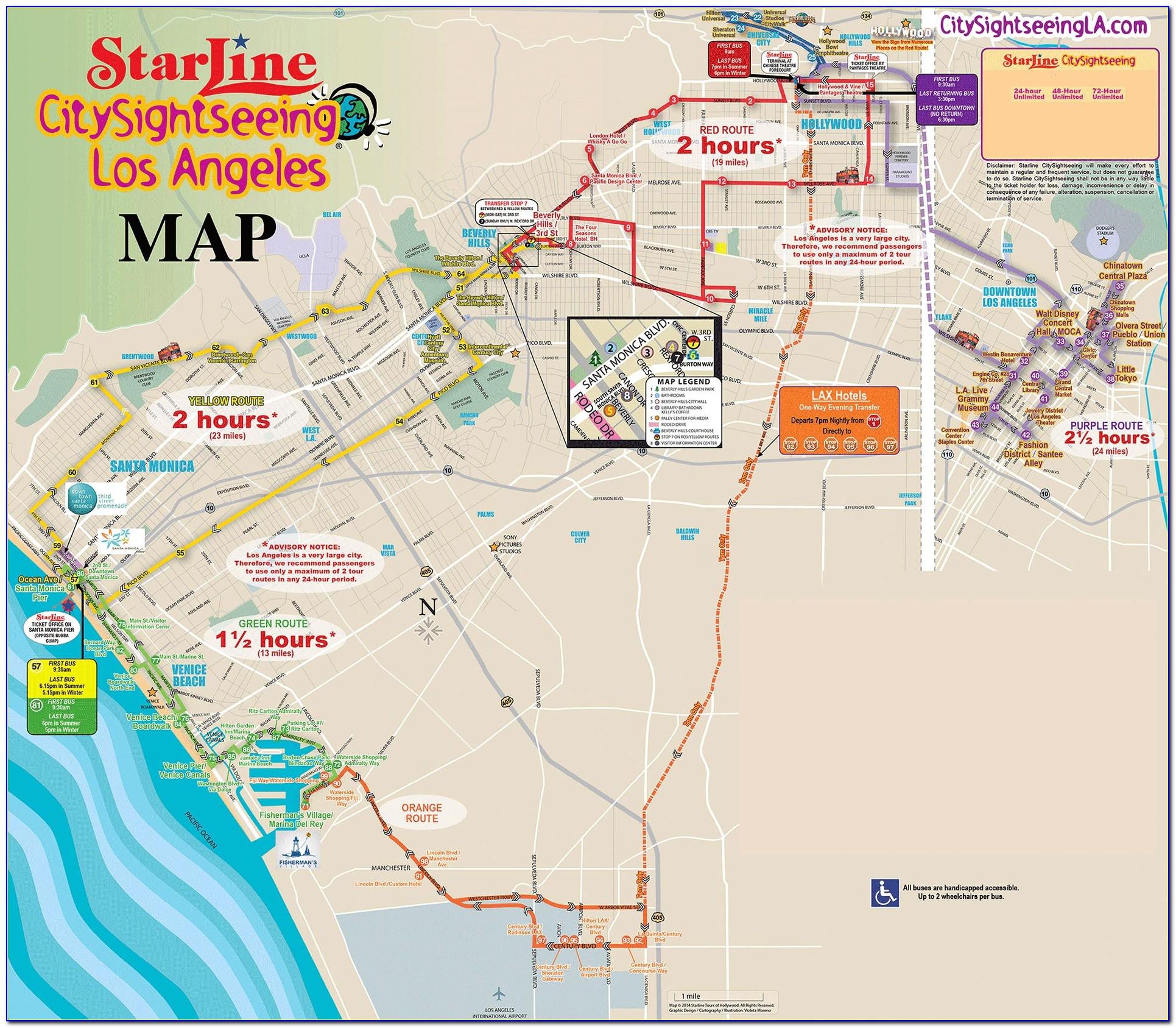 City Sightseeing Hop On Hop Off San Francisco Map