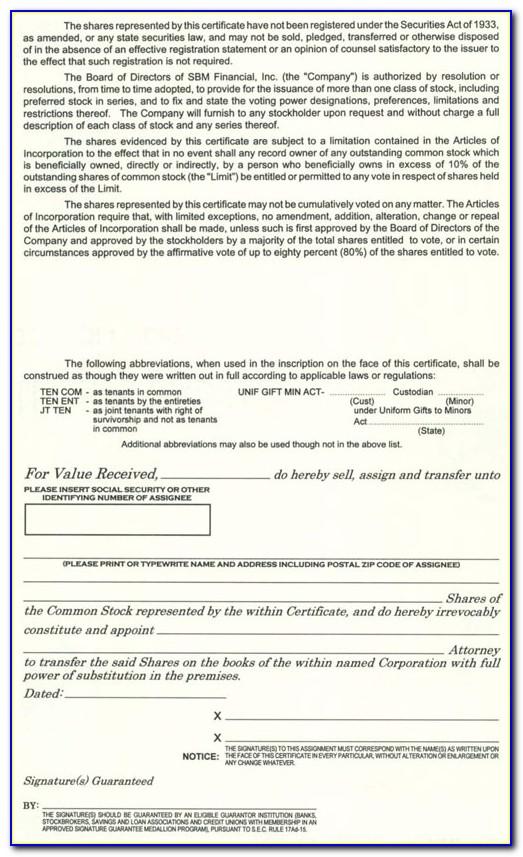 Computershare Medallion Signature Guarantee Form