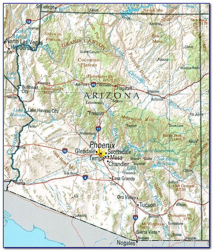Contour Map Of Arizona
