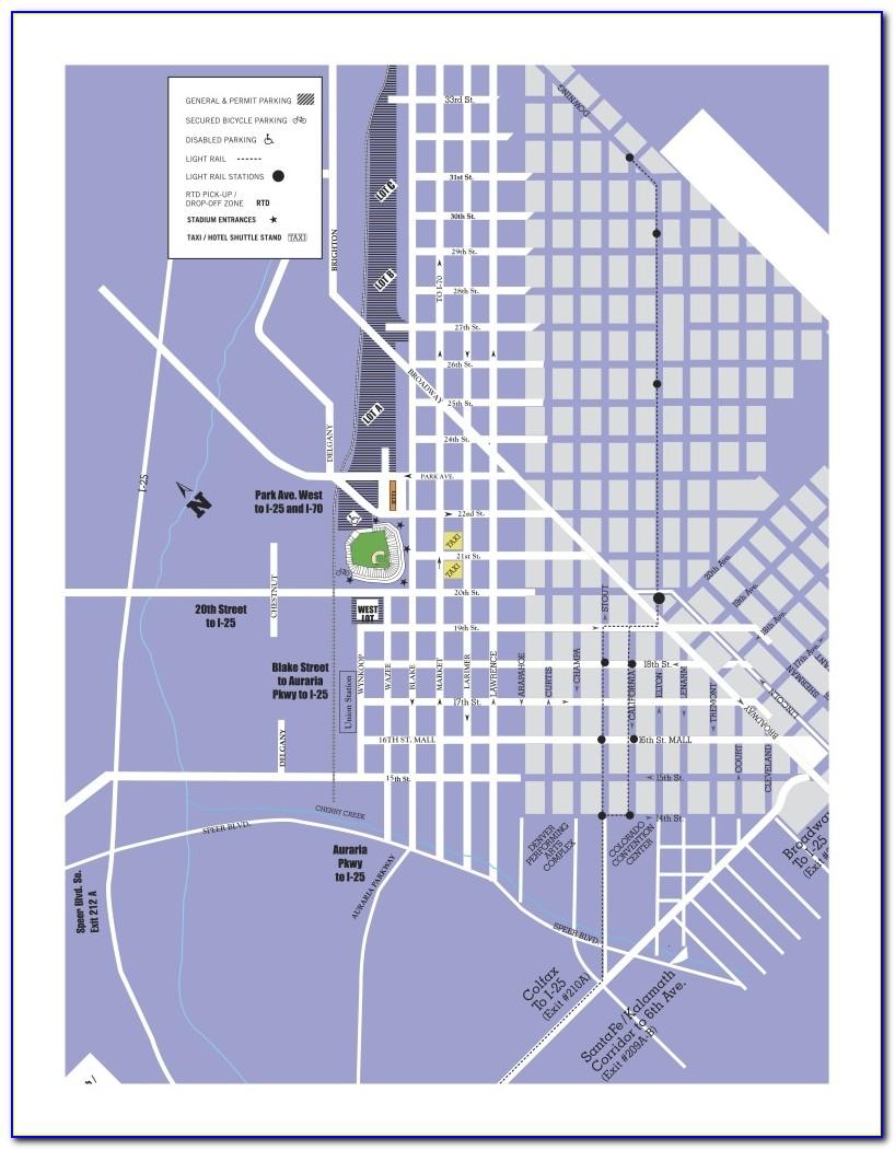 Coors Field Handicap Parking Map