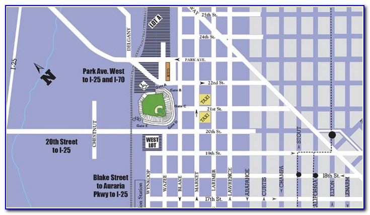 Coors Field Parking Map Lot B