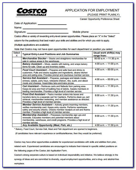 Costco Job Application Canada