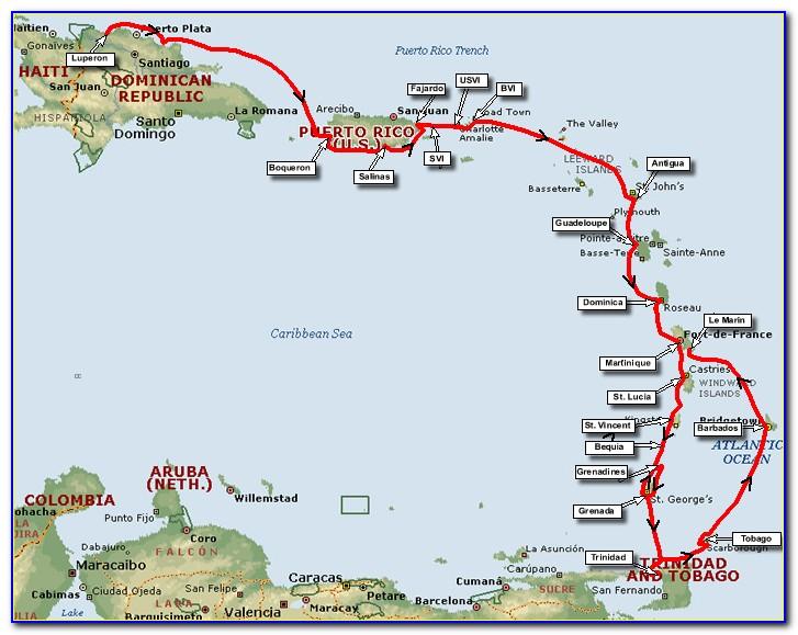 Cruise Maps Caribbean