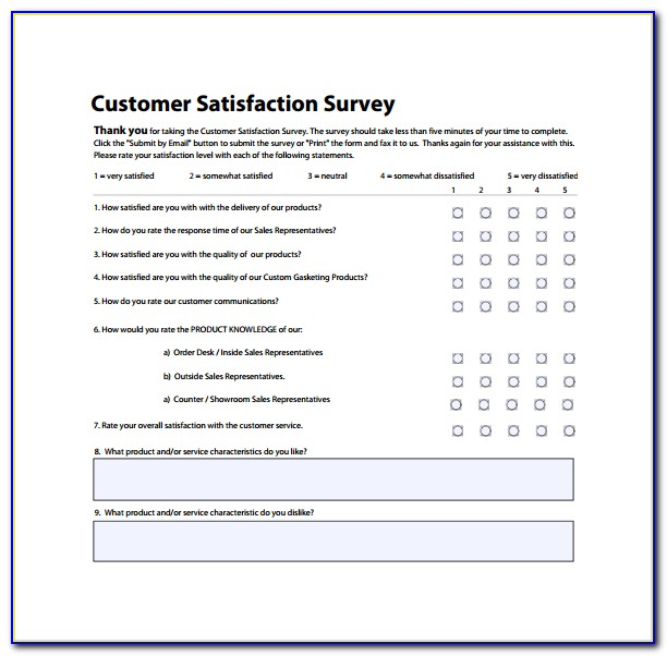 Customer Satisfaction Survey Form For Construction