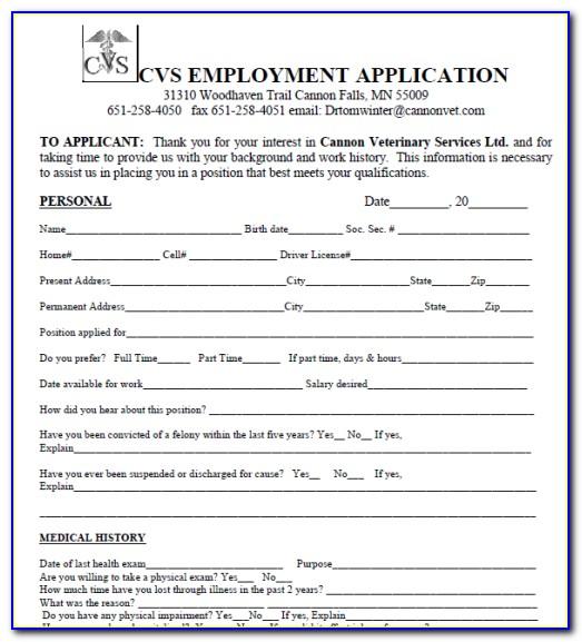 Cvs Distribution Center Job Application