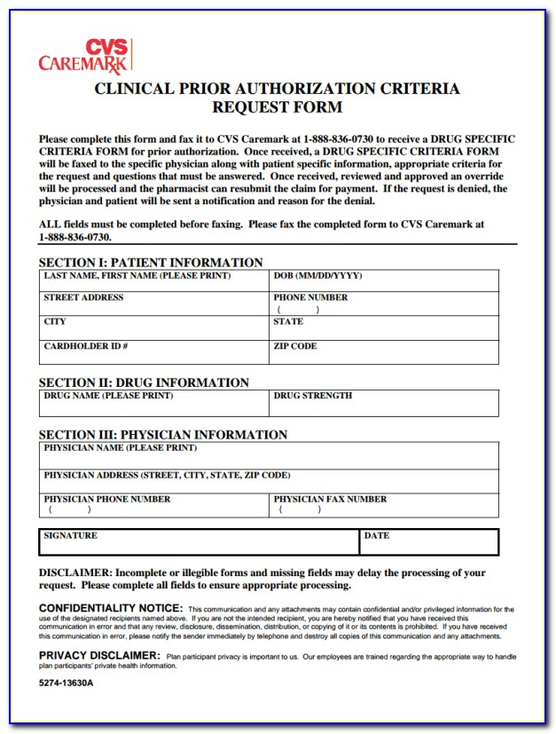Cvs Job Application Print Out