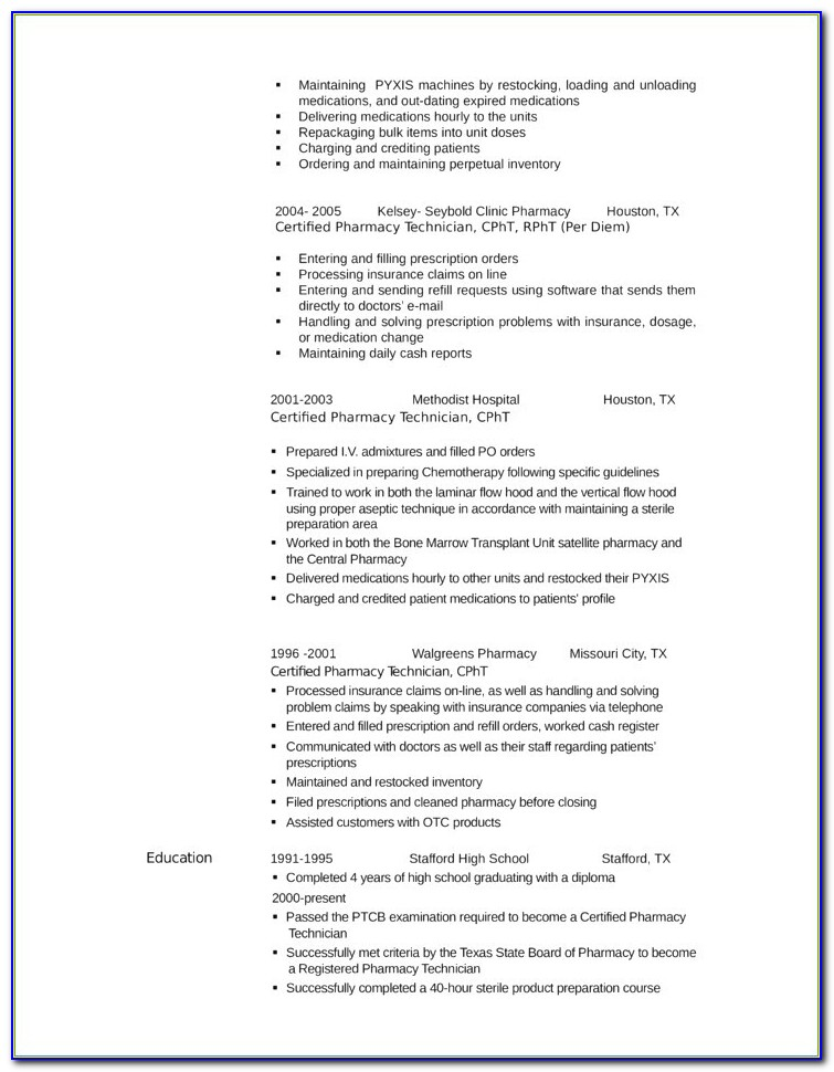 Pharmacy Technician Job Description For Resume Inspirational Cvs Pharmacy Resume