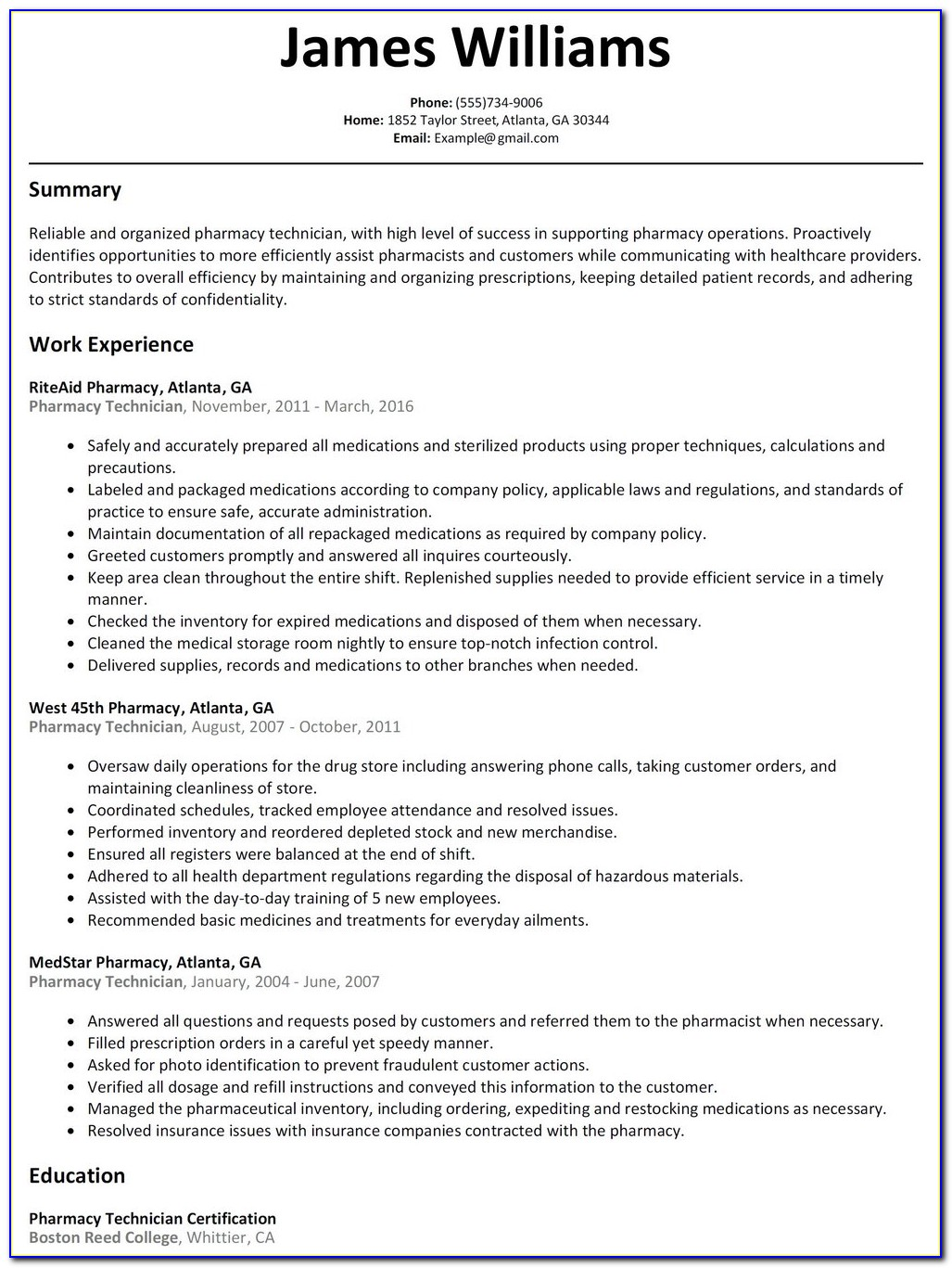 Cvs Pharmacy Technician Trainee Job Application