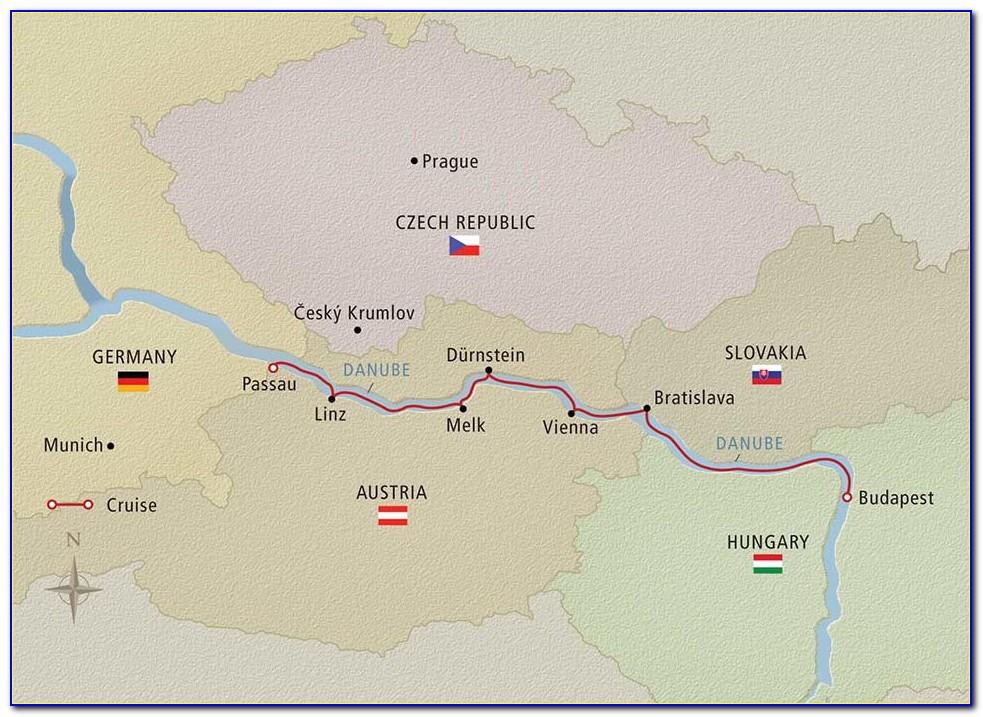Danube River Cruise Map Amawaterways