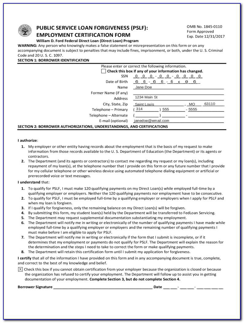 Debt Forgiveness Form 982