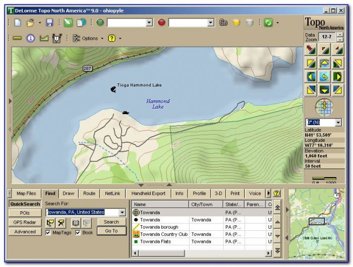 Delorme Online Map Center