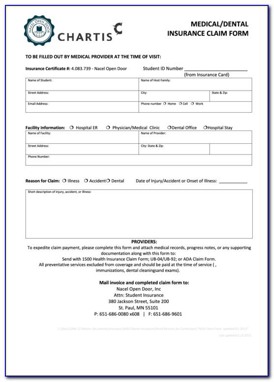 Delta Dental Insurance Claim Form