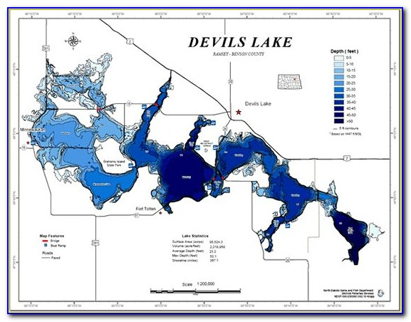 Devils Lake Fishing Maps