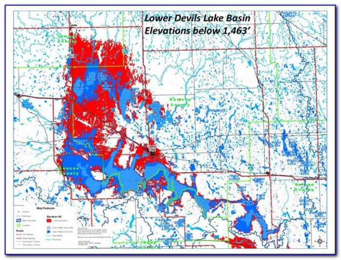 Devils Lake Ice Fishing Map