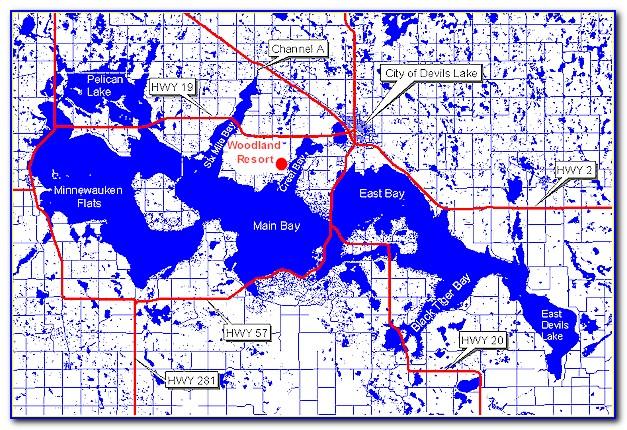 Devils Lake Maps Fishing Buddy