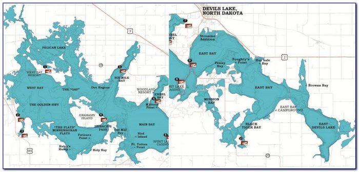 Devils Lake Michigan Fishing Map