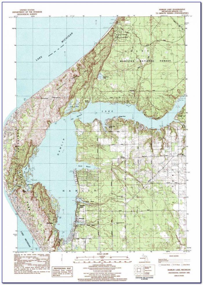 Devils Lake Michigan Topographic Map
