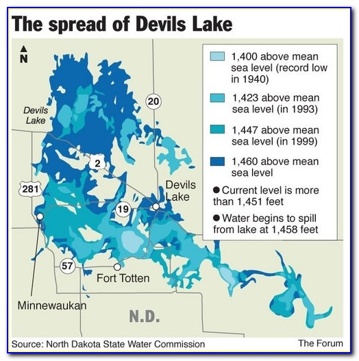 Devils Lake Wi Fishing Map