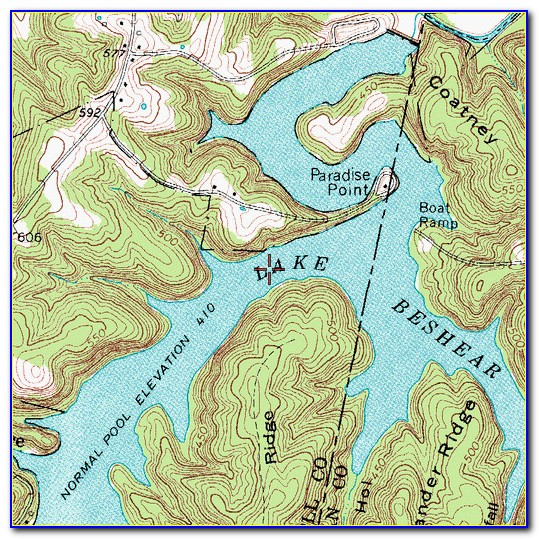 Dewey Lake Ky Topo Map